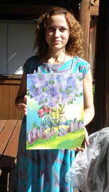 Рисуем картину на холсте за 2 часа